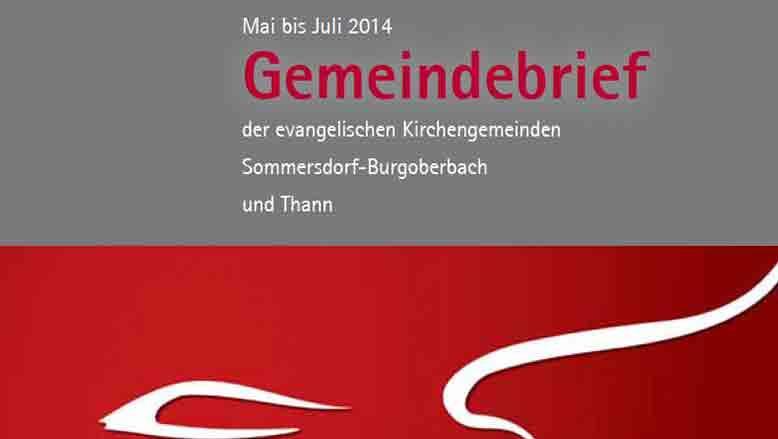 Gemeindebrief Mai – Juli 2014