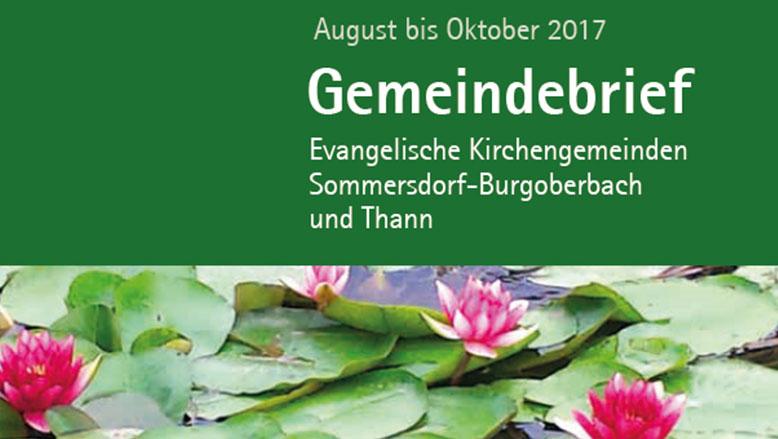 Gemeindebrief August – Oktober 2017