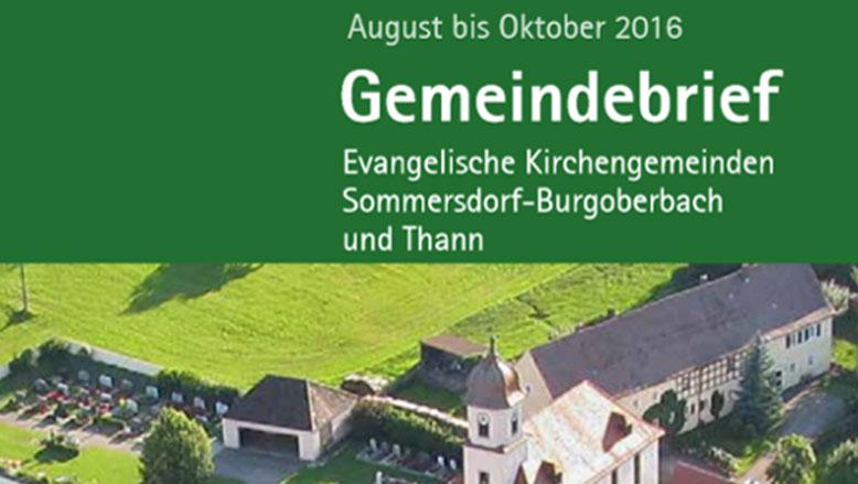 Gemeindebrief August – Oktober 2016
