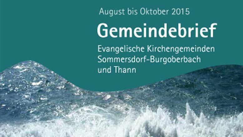 Gemeindebrief August – Oktober 2015