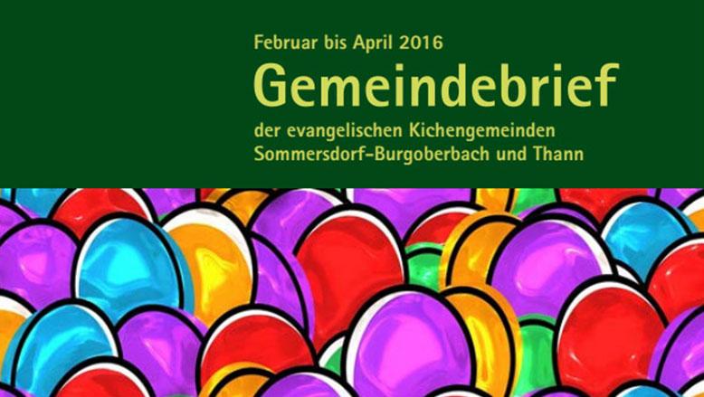 Gemeindebrief Februar – April 2016