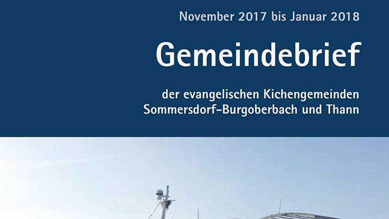 Gemeindebrief November 2017 – Januar 2018