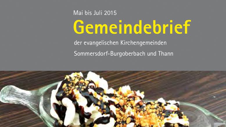 Gemeindebrief Mai – Juli 2015