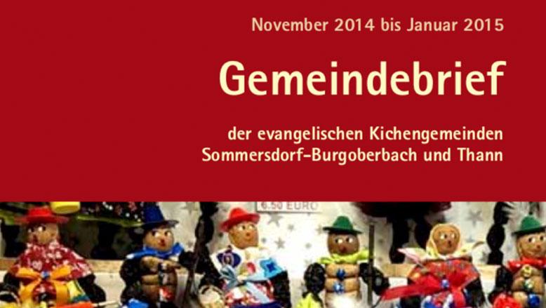 Gemeindebrief November 2014 – Januar 2015