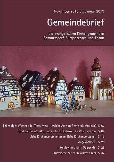 Gemeindebrief November – Januar 2019