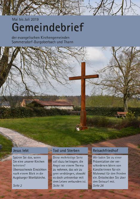 Gemeindebrief Mai – Juli 2019